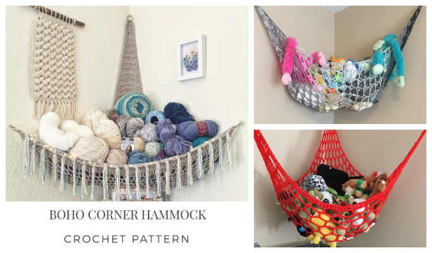 Toy Hammock Free Crochet Patterns and Paid