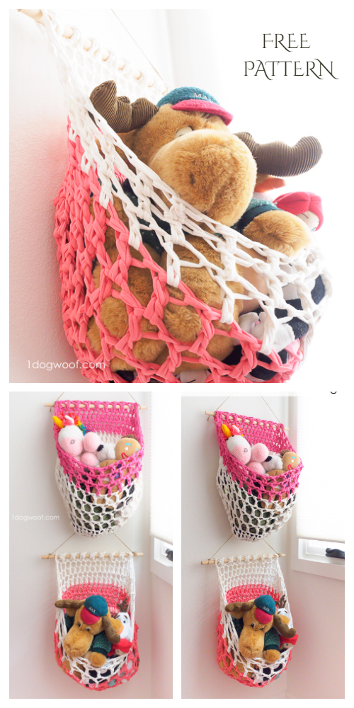 Hanging Toy Basket Free Crochet Patterns