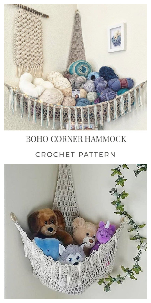 BOHO Toy Hammock Crochet Patterns