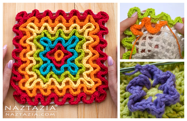 Wiggly Pad Free Crochet Patterns + Video