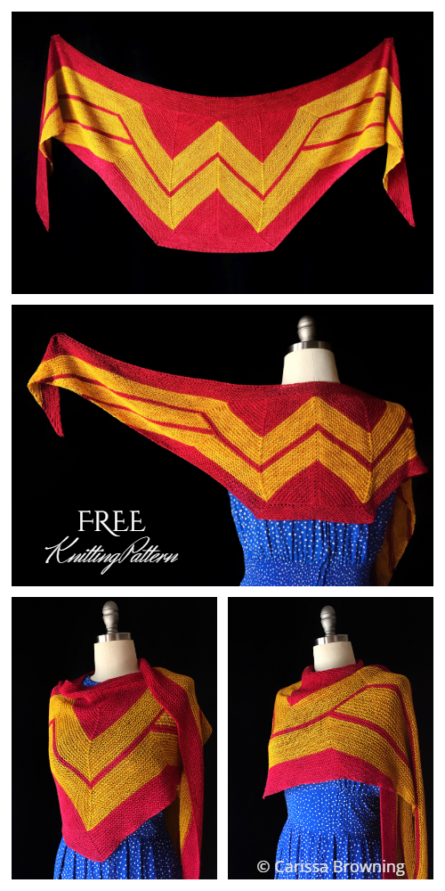 Wonder Woman Wrap Shawl Free Crochet Pattern