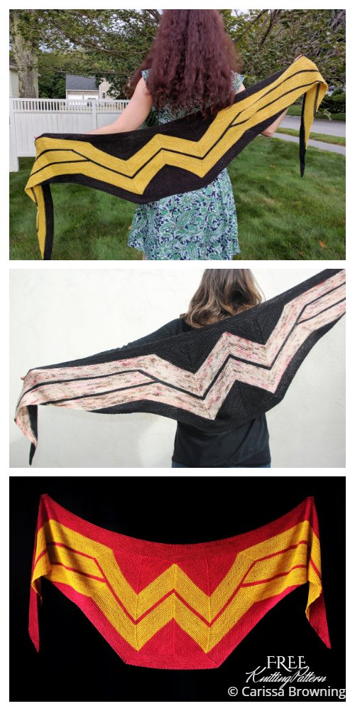 Wonder Woman Wrap Shawl Free Knitting Pattern