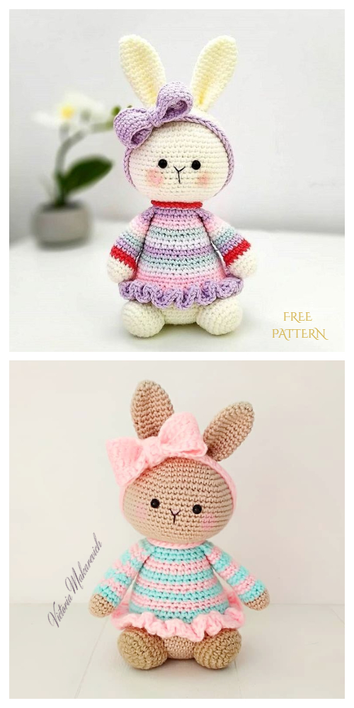 Amigurumi Bunny in Dress Free Crochet Patterns