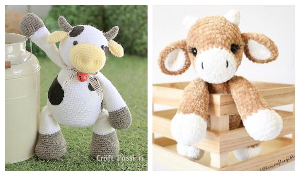 Crochet Cow Amigurumi Free Patterns