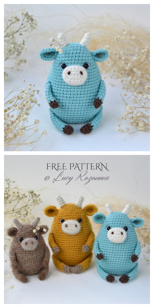 Crochet Cow Amigurumi Free Patterns