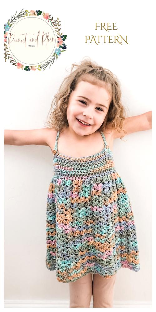 Rainbow Dress Free Crochet Patterns + Video
