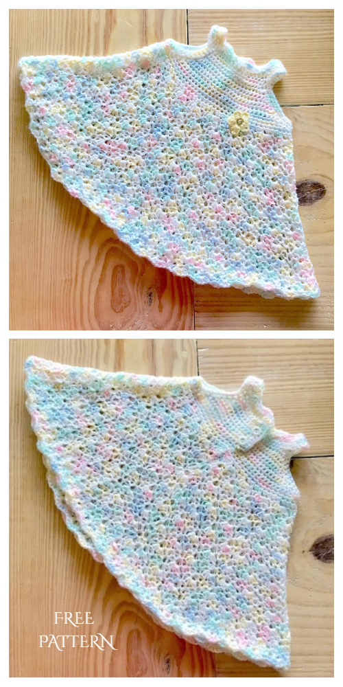 Baby Girl Rainbow Pastel Dress Free Crochet Patterns