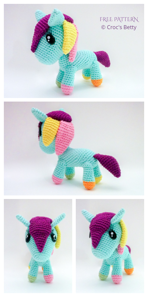 Amigurumi Little Pony Free Crochet Patterns