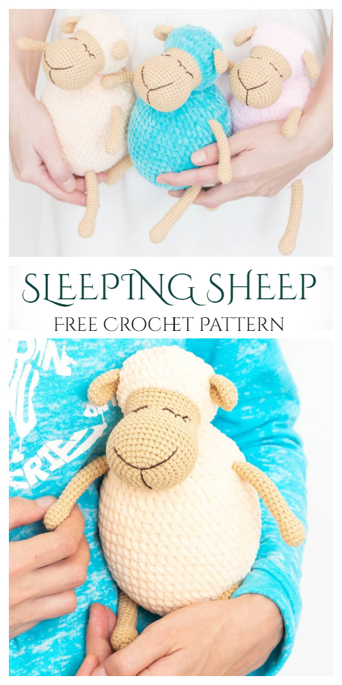 Amigurumi Sleeping Sheep Free Crochet Patterns
