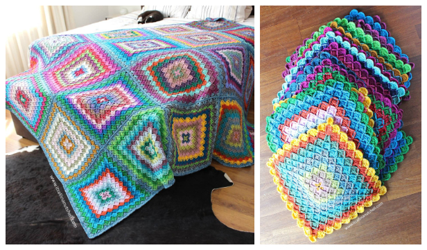 Bavarian Buster Blanket Free Crochet Patterns
