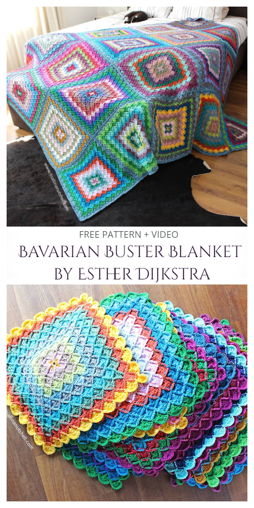 Bavarian Buster Blanket Free Crochet Patterns