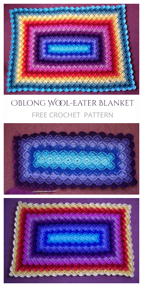 Oblong Bavarian Buster Blanket Free Crochet Patterns