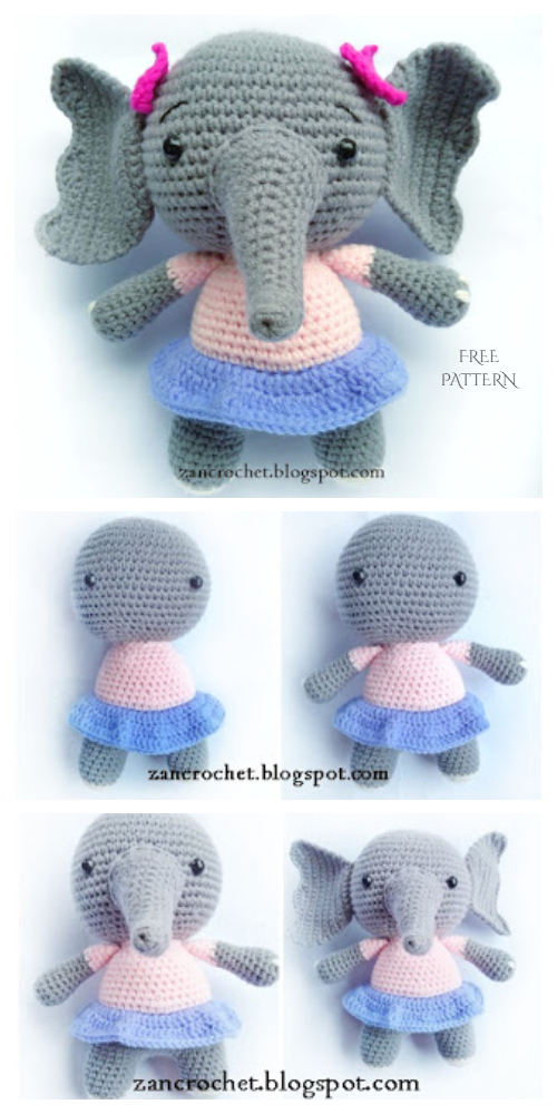 Crochet Elephant Amigurumi Free Patterns