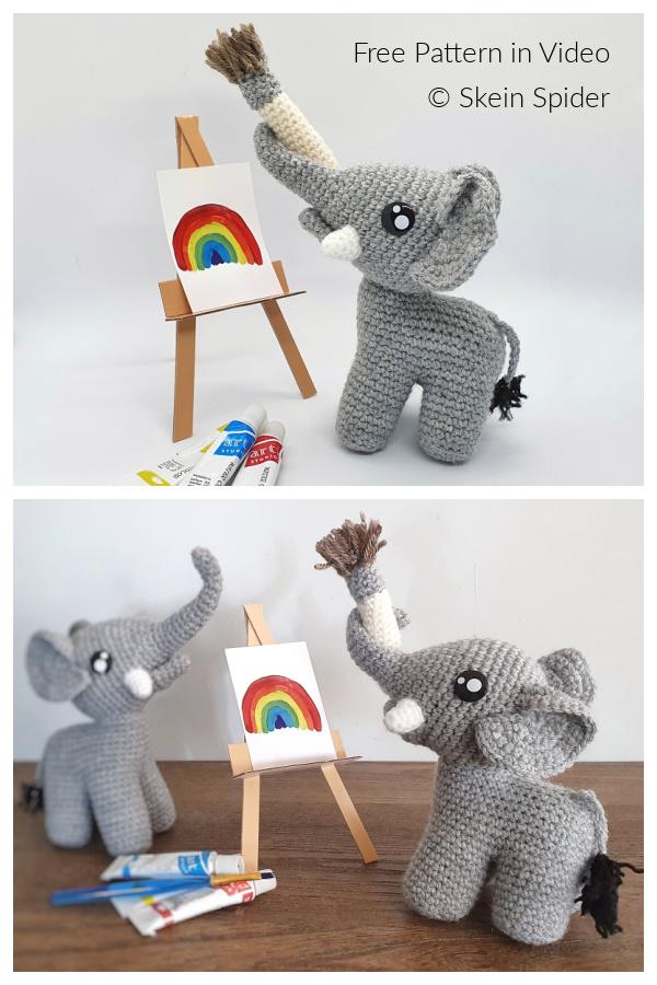 Crochet Artist Elephant Amigurumi Free Patterns
