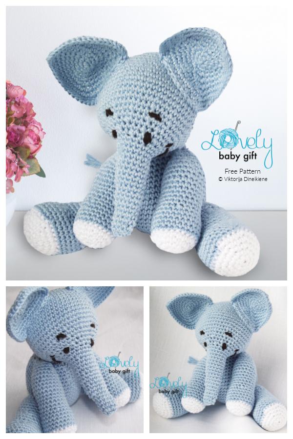 Crochet Elephant Amigurumi Free Patterns