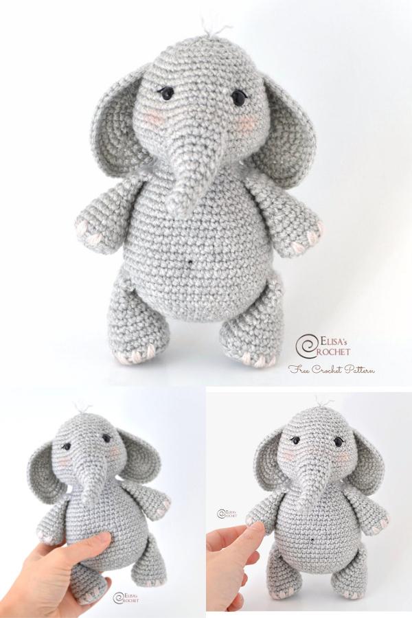 Crochet George the Elephant Amigurumi Free Pattern