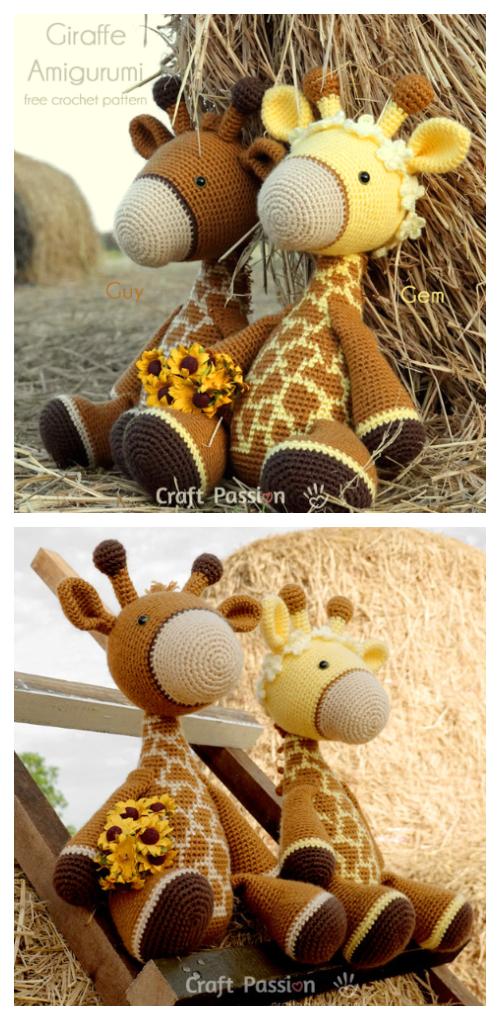 Hearty giraffe - I've used free pattern from amigurumi.today/hearty-giraffe- amigurumi-pattern-free/ | Amigurumi free pattern, Free pattern, Giraffe  crochet | 1020x500