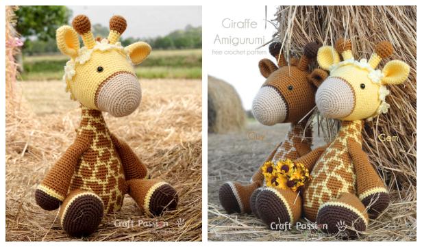 Red Heart Love My Giraffe Toy | Yarnspirations | 361x616