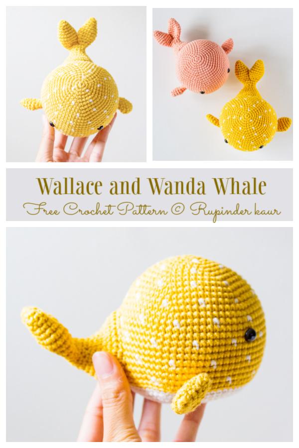Crochet Wallace and Wanda Whale Amigurumi Free Patterns