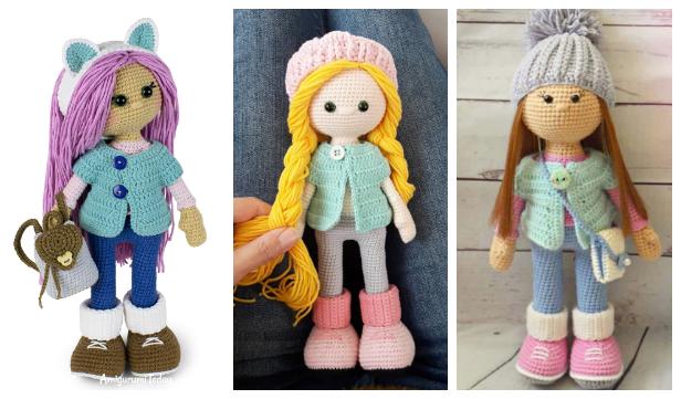 Free Crochet Doll Dress Patterns | Crochet dolls free patterns ... | 361x616