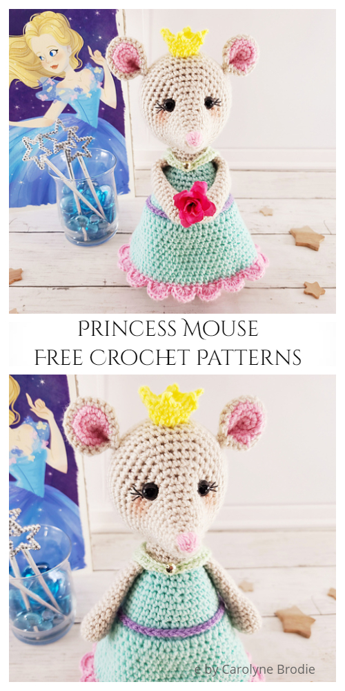 Crochet Princess Mouse Amigurumi Free Patterns