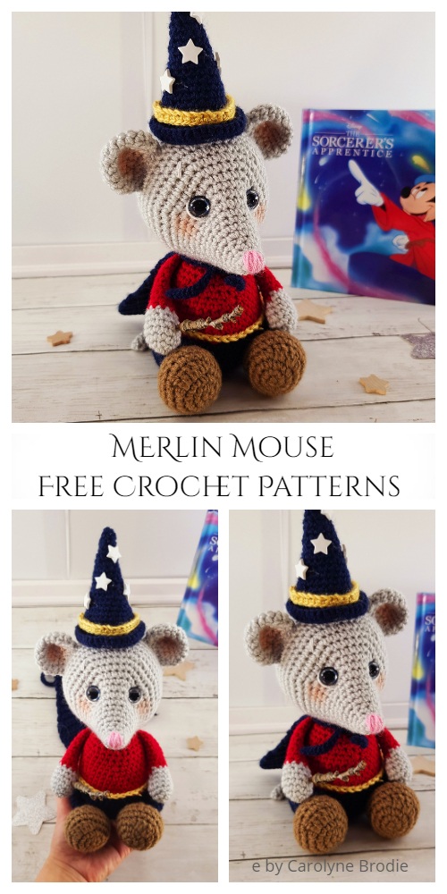 Crochet Merlin Wizard Mouse Amigurumi Free Patterns