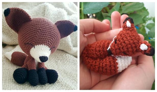 Sleepy fox amigurumi, handmade, shover gift for... - Folksy   361x616