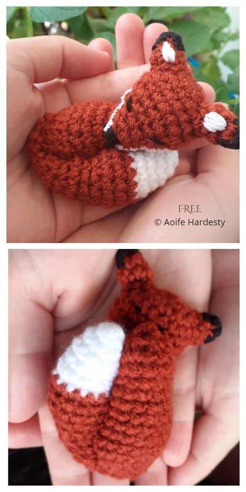 Crochet Sleepy Fox Amigurumi Free Patterns