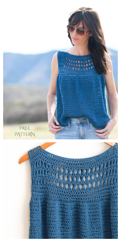 Easy Summer Top Free Crochet Patterns