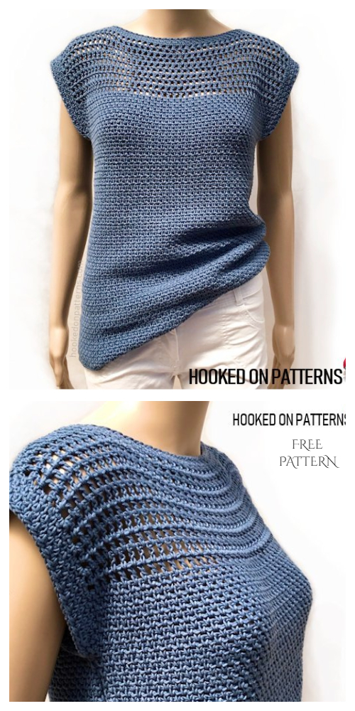 Easy Summer Top Free Crochet Patterns