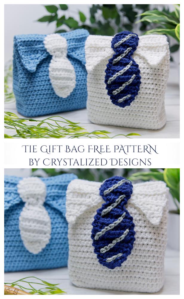 Tie Gift Bag Free Crochet Pattern