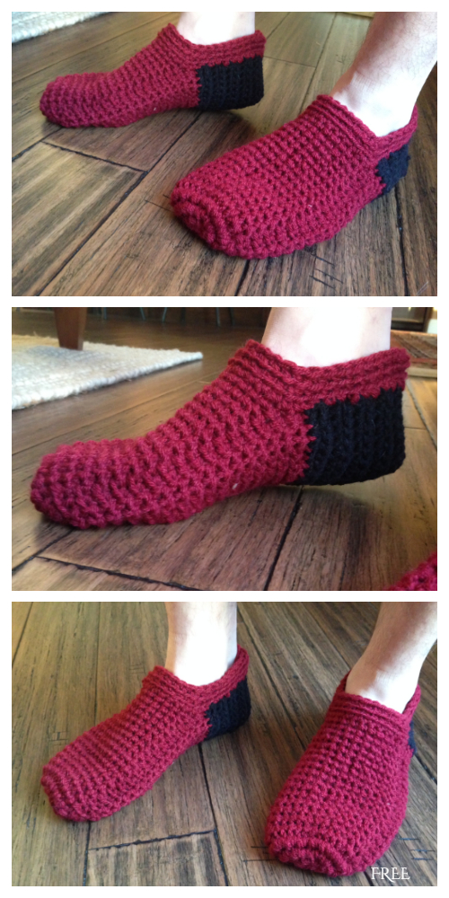 Spa Mens Slippers Free Crochet Pattern