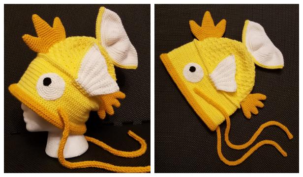 Fun Fish Hat Free Crochet Patterns & Paid