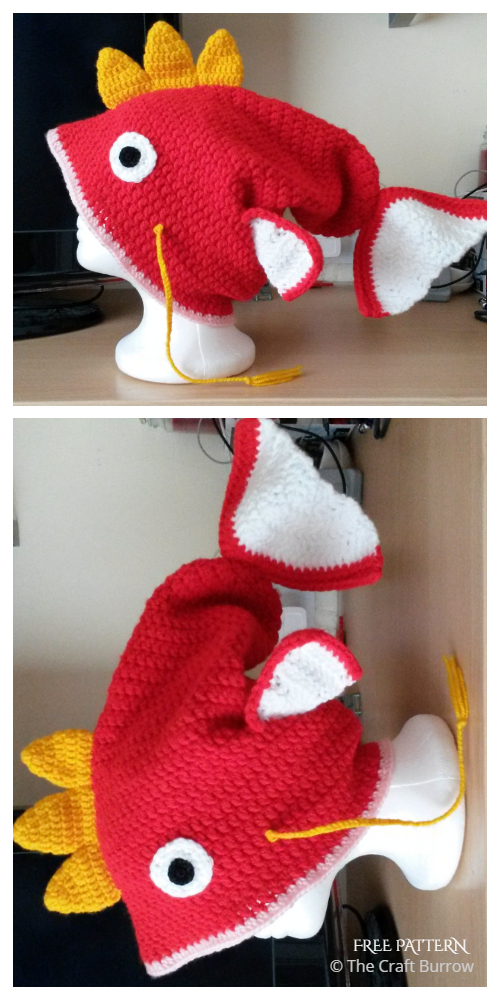 Fun Fish Hat Free Crochet Patterns & Paid
