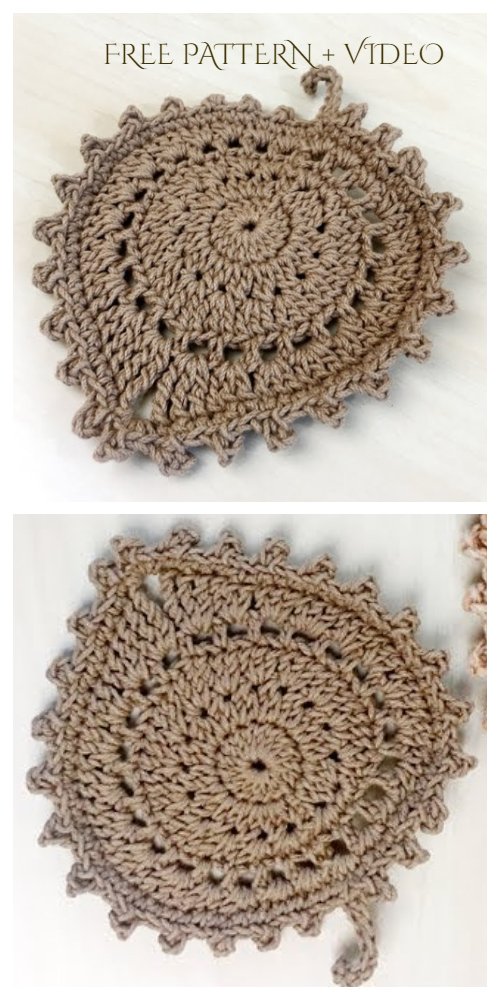 Fun Leaf Coaster Free Crochet Patterns + Video