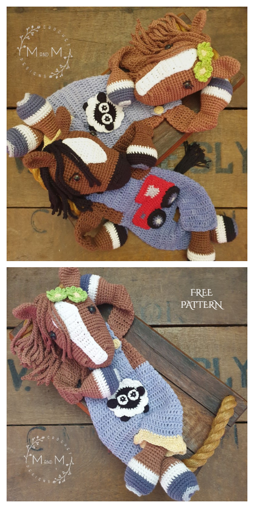 Horse Ragdoll Free Crochet Patterns