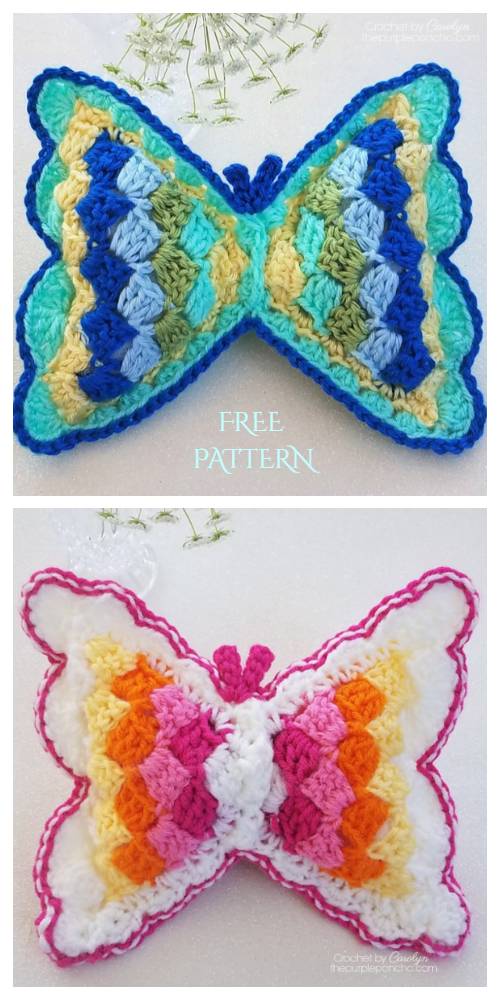 C2C Kids Butterfly Pillow Free Crochet Patterns