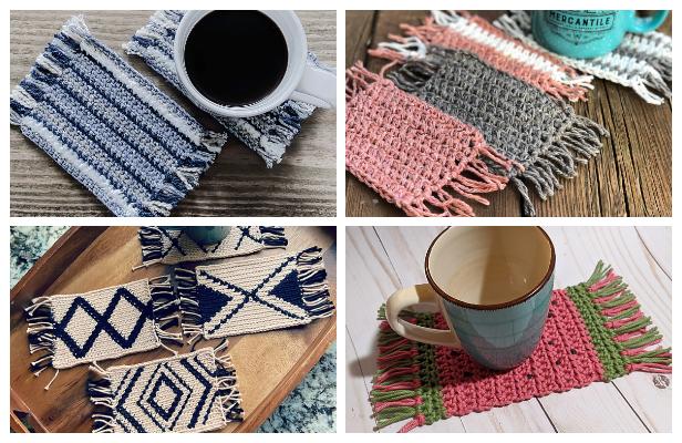 Mug Rug Coaster Free Crochet Patterns