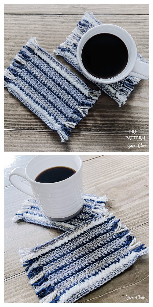 Mug Rug Coaster Free Crochet Patterns