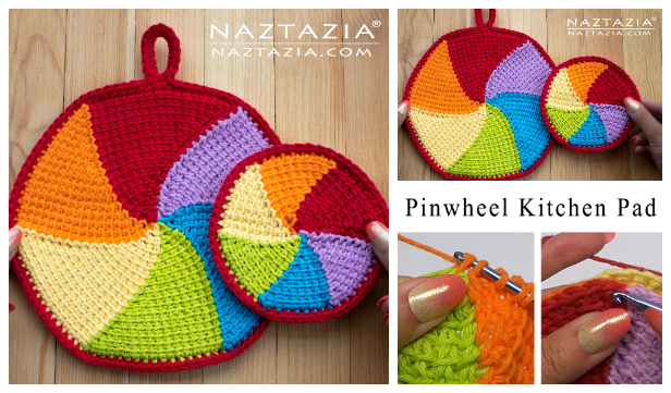Pinwheel Kitchen Pad Free Crochet Patterns + Video