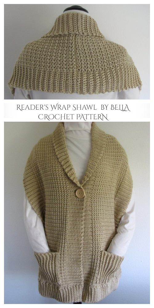Reader's Wrap Shawl Crochet Patterns