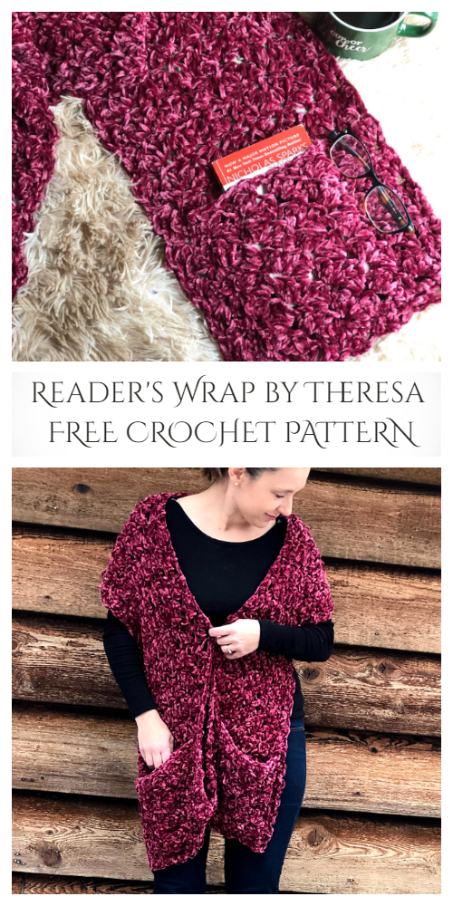 Reader's Wrap Shawl Free Crochet Patterns