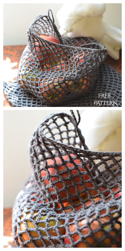 Reusable Net Produce Bag Free Crochet Patterns