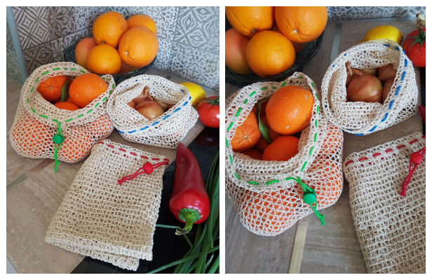 Reusable Produce Bag Free Crochet Patterns