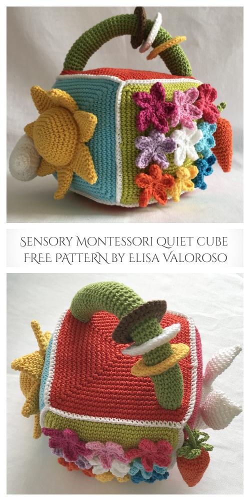 Sensory Montessori quiet Cube Free Crochet Patterns