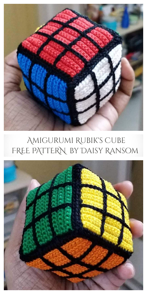 Rubik's Cube Free Crochet Patterns