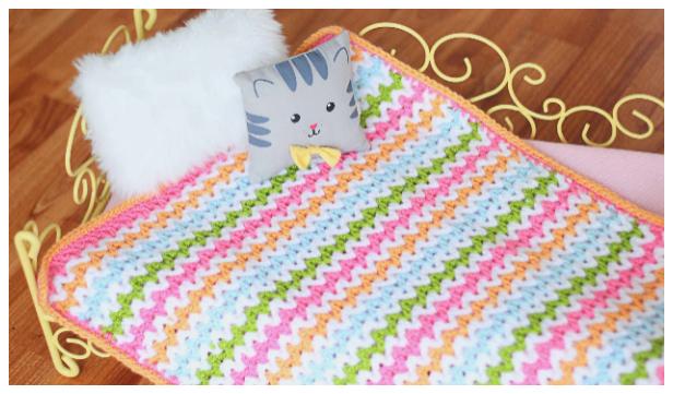 V Stitch Blanket Free Crochet Patterns