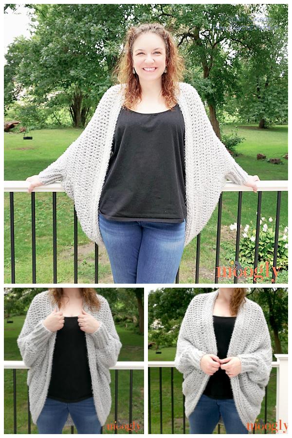 Summer Hygge Cocoon Cardigan Free Crochet Patterns