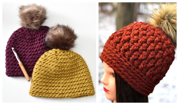 Chunky Beanie Hat Free Crochet Patterns