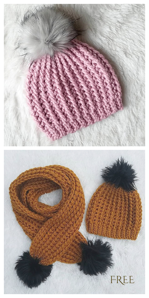 Chunky Hill Country Beanie Free Crochet Patterns